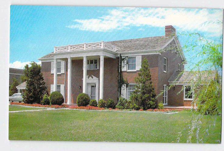 Canyon Texas, West Texas State College President Home, 1950s, Vintage Postcard by ABarnFullofPostcards on Etsy