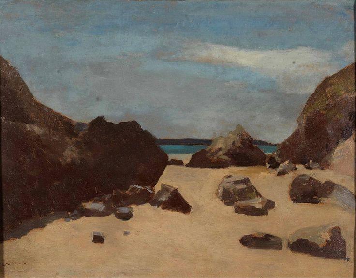 Odilon Redon (French, 1840 - 1916)  - Rocks (Rocks in Brittany) (Les rochers (Rochers en Bretagne)), circa 1875