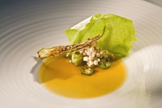 dom alex atala bresil 2011 plate green yellow starter high and art