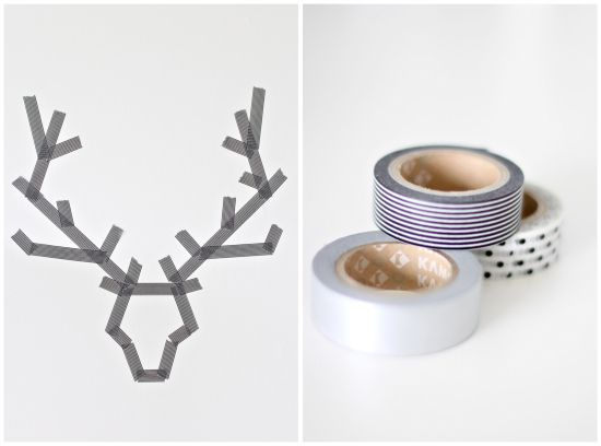 DIY Washi Tape Antlers | 23 Delightful Pieces Of Faux Taxidermy Where No Animal Actually Died