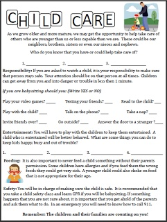 Printables Babysitting Worksheets printables babysitting worksheets safarmediapps 1000 images about for the classroom on pinterest bingo 2 page worksheet child