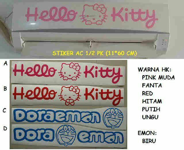 #stiker #ac #hellokitty & #doraemon @ 35.000
