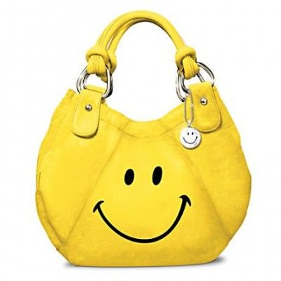 Yellow Smiley Face Purse - Brighten any outfit - and your day!
