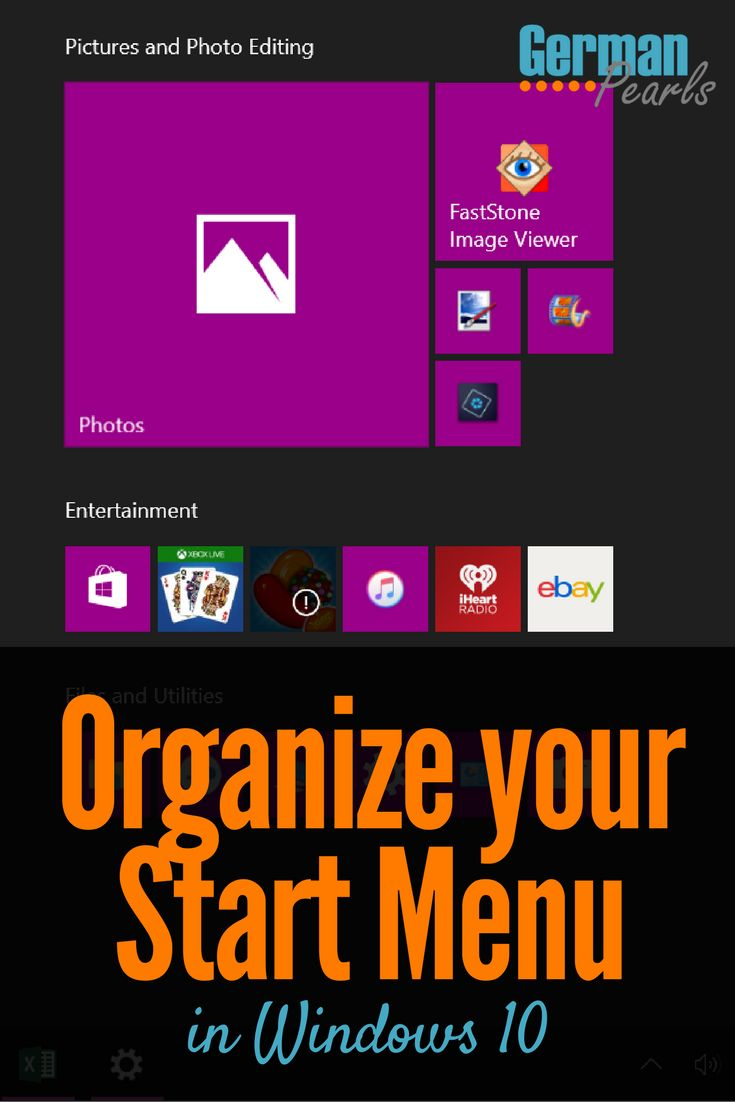 Customize Windows 10 Start Menu, Organize Windows 10 Start Menu, Create Groups in Start Menu, Add Tiles, Remove Tiles, Rename Groups and More via @GermanPearls