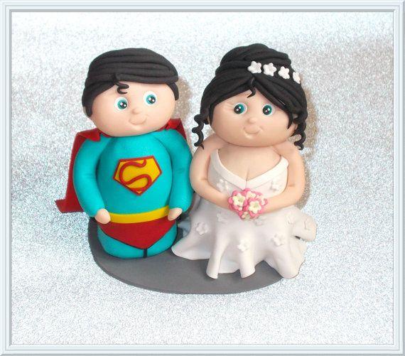 Superhero Superman Cute Bride And Groom Wedding by DesignsByDenisa