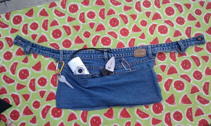Denim Gartenbeutel aus alten Jeans