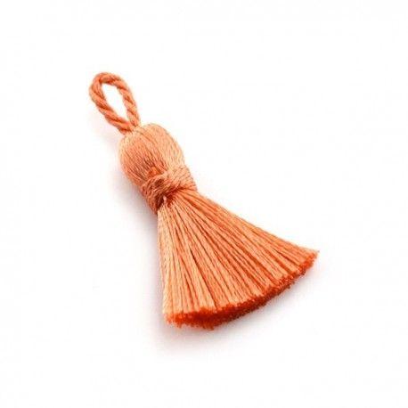Pompon textile 25mm - Orange clair - www.calypsobijoux.com