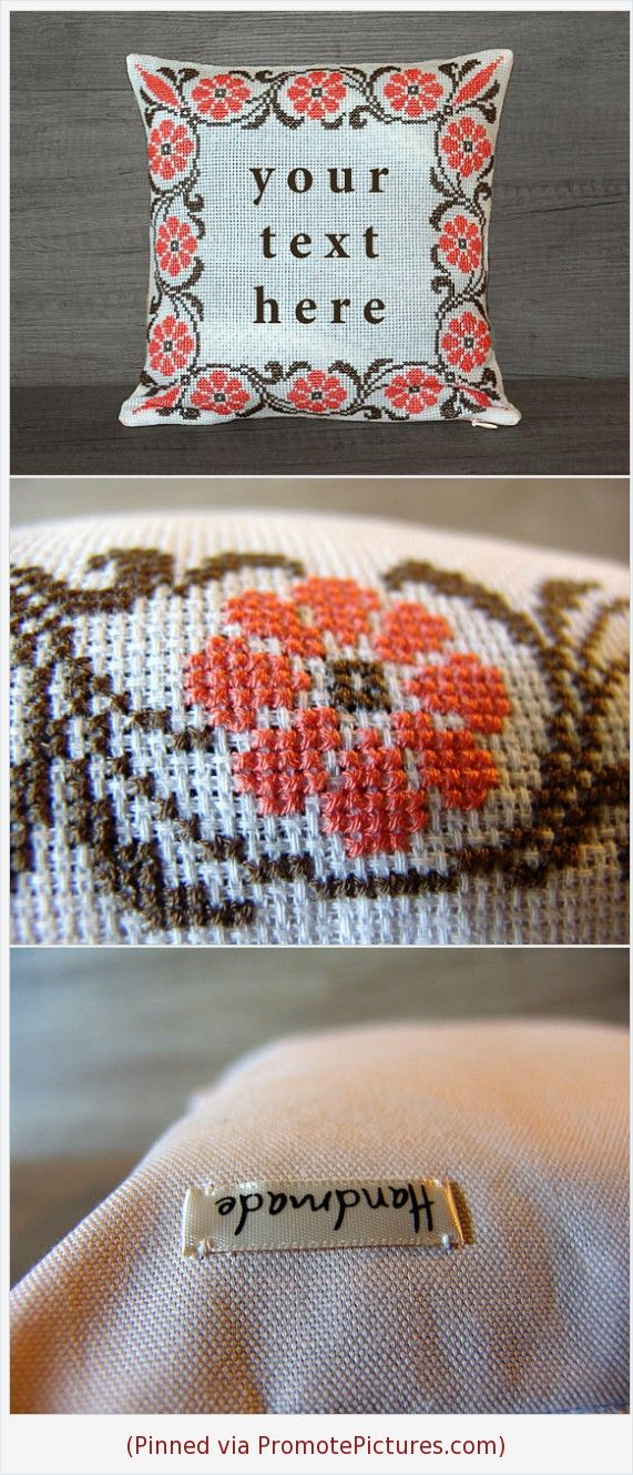Custom Cross Stitch Pillow Cover Custom Needlepoint Throw Pillow Interesting 27 Inch Pillow Covers