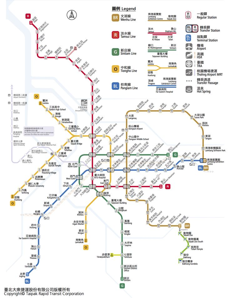 臺灣語言舊地名捷運路線圖 Taipei Metro Map in Taiwanese Languages