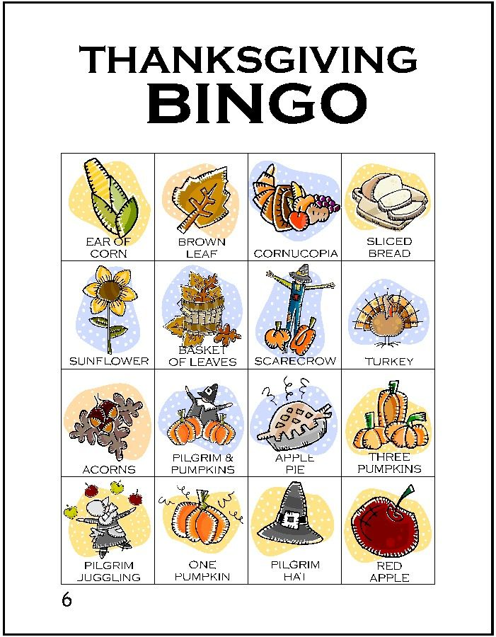 Thanksgiving Bingo - now adjust this for Mabon. I like playing bingo :-D