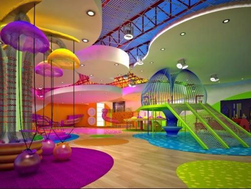 I just had to include this incredible space!  Children's gym in San Diego.