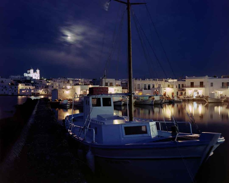 Naousa, Paros by night!