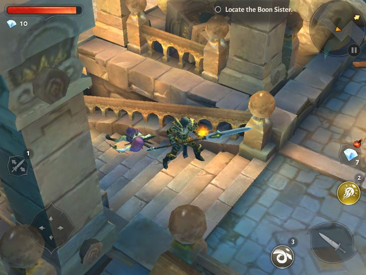 Dungeon Hunter 5 by GameLoft - In Game UI - UI HUD User Interface Game Art GUI iOS Apps Games