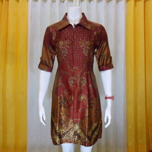 baju dress batik kerja exclusive DBE1