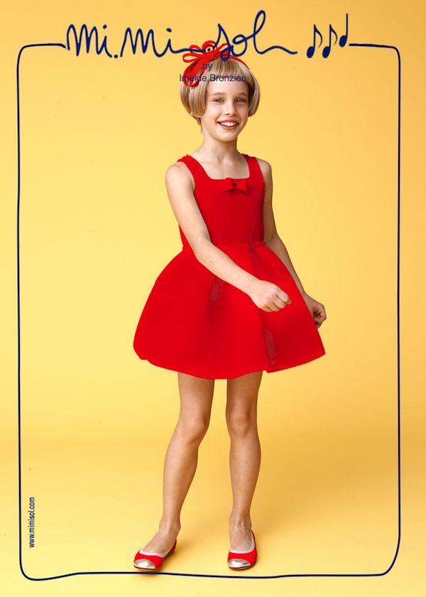 """This is the dress that I would have worn on Oscar night, if I had been a nominee! Don't I look like """"The Great Beauty?"""". #MiMiSol #Imeldebronzieri #PE2014 #SS2014 #children'scollection #Thegreaybeauty #oscar2014"""