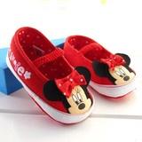 Kim bebeğine böyle bir ayakkabı almak istemez ki? Ufaklıklar bu ayakkabıları giyince her zamankinden daha da sevimli olacaklar. Çocuğunuza, yeğeninize alabileceğin harika bir hediye.  Minnie Mouse şekilli, çok sevimli bebek ayakkabısı.