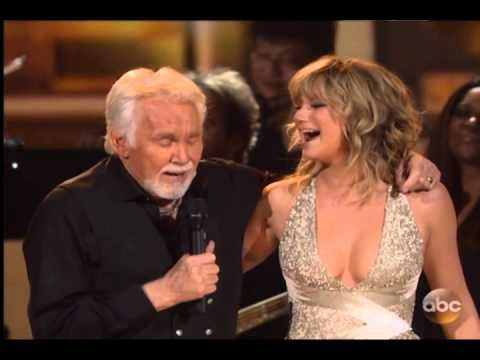 """Kenny Rogers - Islands in the Stream .... with Jennifer Nettles (who used to be with Sugarland) during the 47th Annual Country Music Awards on Nov. 06, 2013 when Kenny was honored with the Willie Nelson Lifetime Achievement Award. Kenny Rogers and Dolly Parton had a massive hit with """"Islands In the Stream"""" in 1983. Dolly was not able to join Kenny for this performance. """"Islands in the Stream,"""" was written and produced by Barry Gibb  ... This is AWESOME!!"""