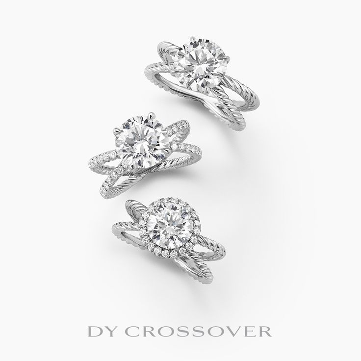twin cable bands cross and meet to symbolize two lives merging together in marriage by david yurman - David Yurman Wedding Rings