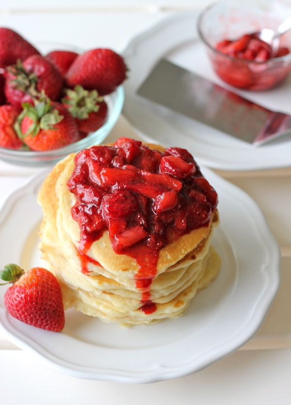 ... Strawberry Sauce | Recipe | Buttermilk pancakes, Strawberry sauce and