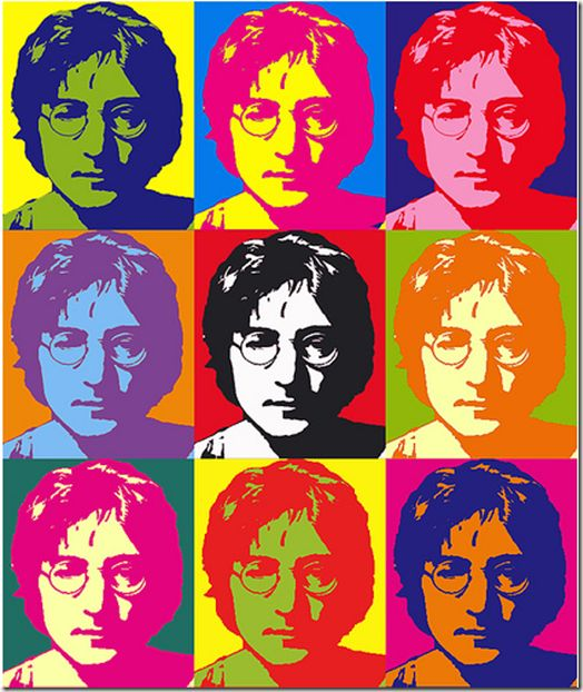 COLOR RELATIVITY ------------- John Lennon by Andy Warhol. Warhol was a leading figure in the contemporary visual art movement known as pop art.