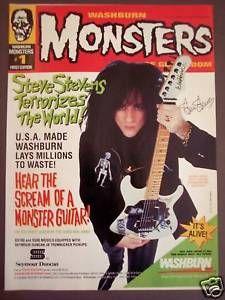 vintage musician ads | Details about 1992 Steve Stevens WASHBURN GUITARS Vintage Music Ad