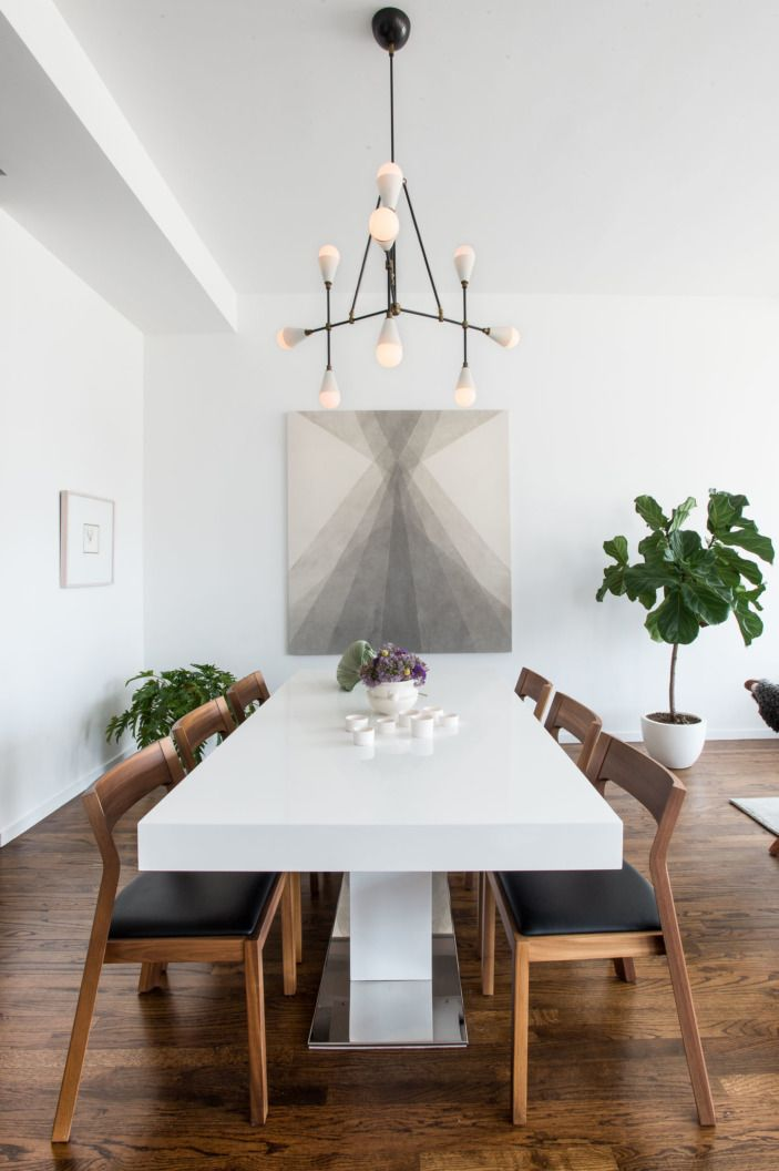 Ultra Minimalist For The Ultimate Bachelor Pad. White Dining TableDining ...