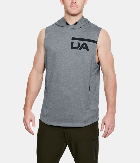 83b74cfc0c Men's UA MK-1 Terry Sleeveless Hoodie in 2019 | Fitness Gear ...