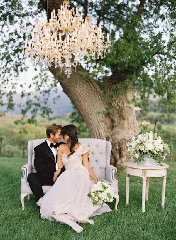 outdoor wedding reception idea; via Loverly