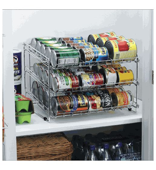 Deluxe Chrome Canned Food Storage Rack | My Style | Pinterest