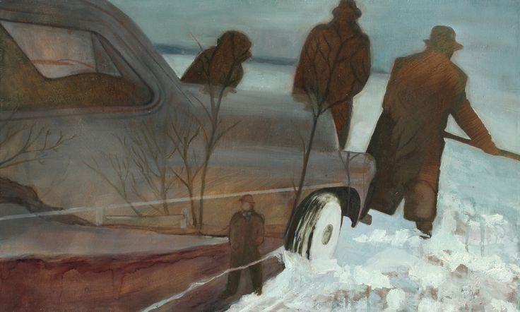 Snow shoveller 2012 50x70 cm oil on canvas