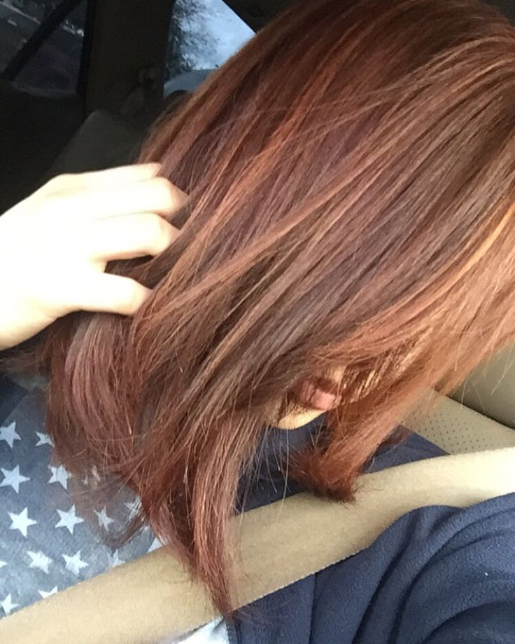 Copper brown hair