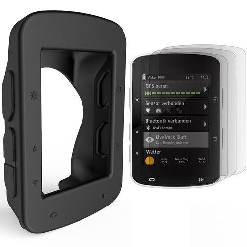 Silicone Case Cover + Screen Protector For Garmin Edge GPS