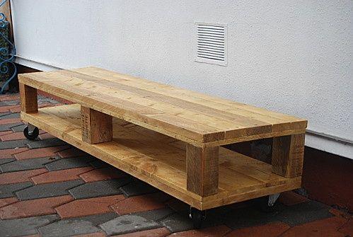 fabriquer meuble tv palette meuble tv en palettes diy pinterest meubles pinterest pallets tv stands and tvs - Meuble Tv En Palette Plan