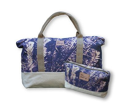 Purple Lavender Weekender Combo by PhotoGanic Organic Fabrics