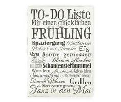 To Do Liste Frühling