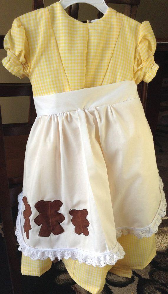 Goldilocks Costume Dress with Matching Hair Bows