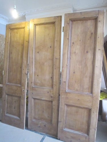 Victorian solid wood folding partition doors | eBay