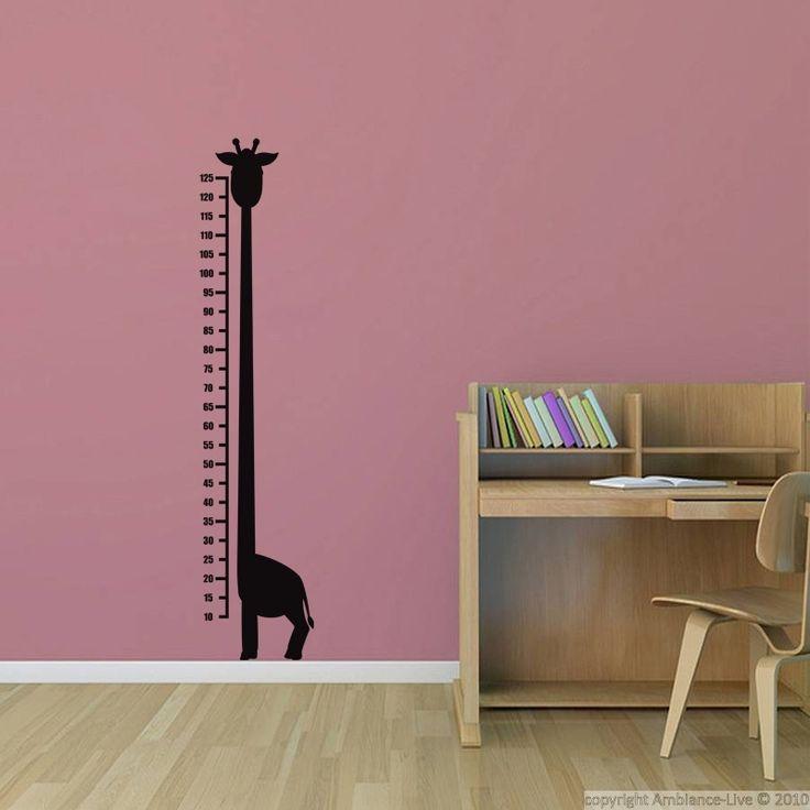 Sticker Toise Giraffe - stickers STICKERS ENFANTS - ambiance-sticker