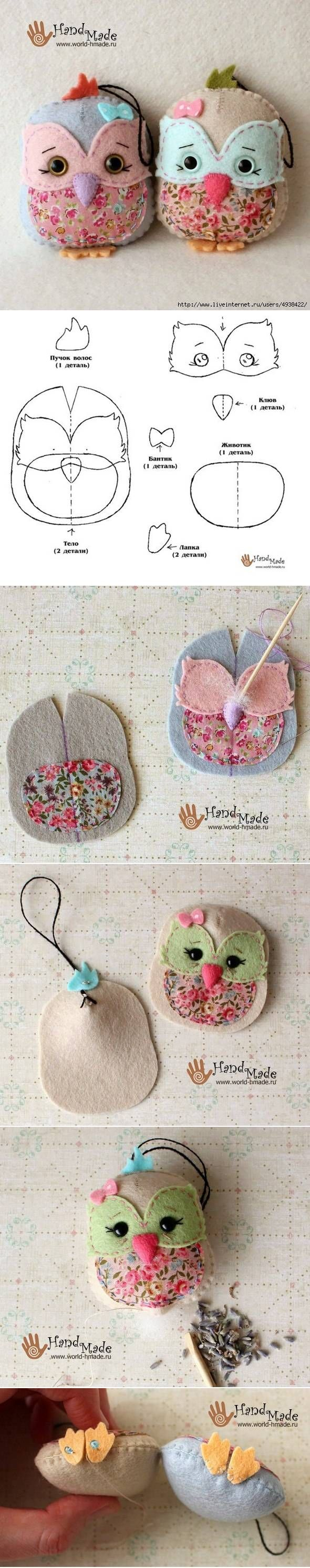 DIY BOHO DE FIELTRO super adorable checa LINK ♥ Adorable Felt Owl