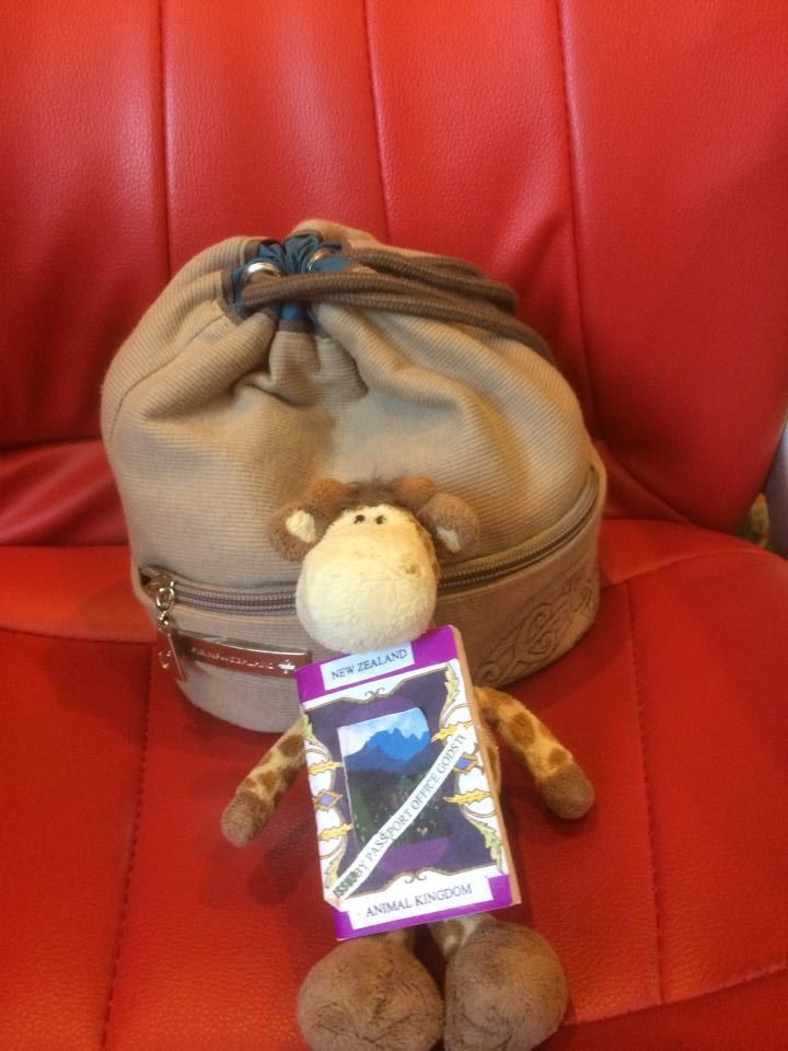 Draft is very excited. He is off to visit Air New Zealand to look around the new Dreamliner plane. Maybe he will be the first Giraffe to do so. He has his passport ready (going airside) and his Airnz bag packed @flyairnz #airnewzealand #draft #luxurytravel