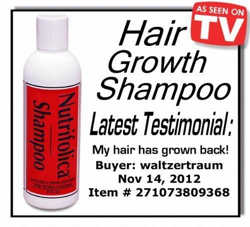 Real Results  All Natural Nutrifolica Hair Regrowth Shampoo Grow Receding Line