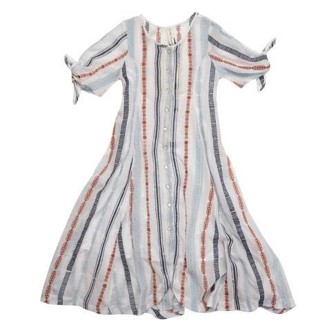 Feather Drum_Sierra Gown - Arizona Stripe - The Child Hood