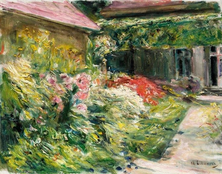 flowers by the house of the gardener northeast max liebermann paintings