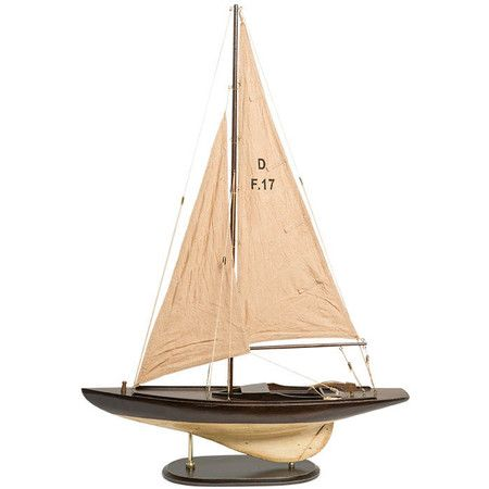Sally Sailboat Accent in Brown