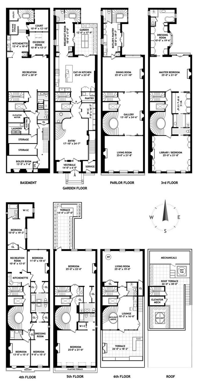 For 100 000 Month Rent A Historic Mansion Near Central Park West Architectural Floor Plans Mansion Floor Plan Apartment Floor Plans