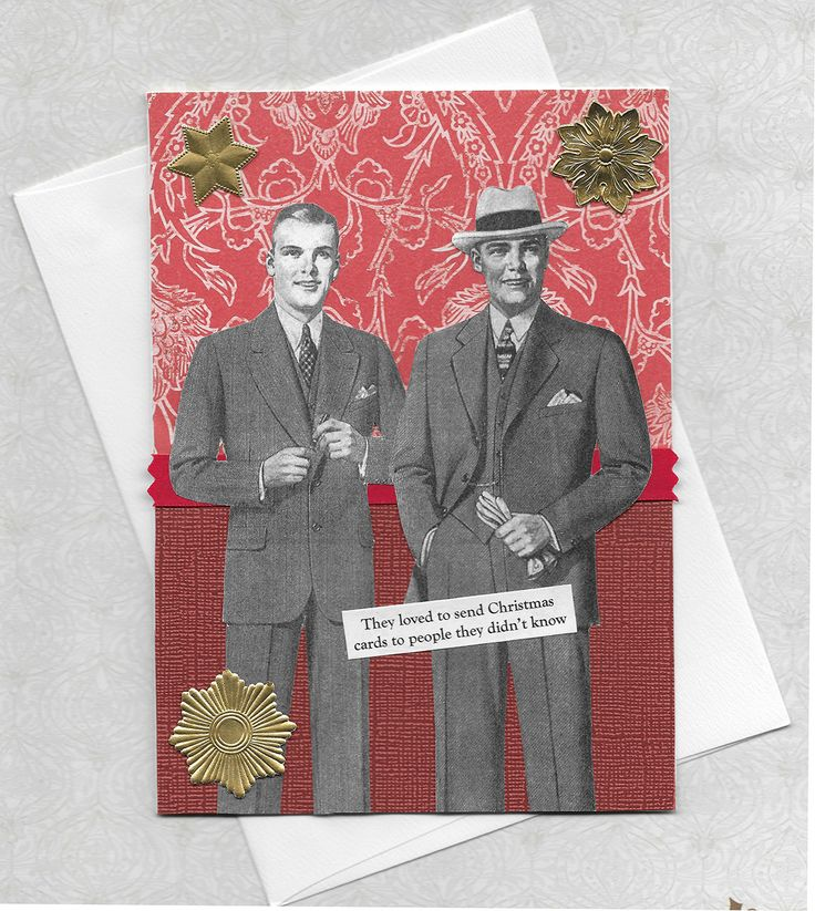 Silly Christmas Card for Christmas Card Makers - Victorian Vintage Style Collage Art - You'll Hear From Us Soon - pinned by pin4etsy.com
