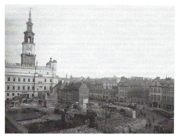Old Market Poznań, 1955