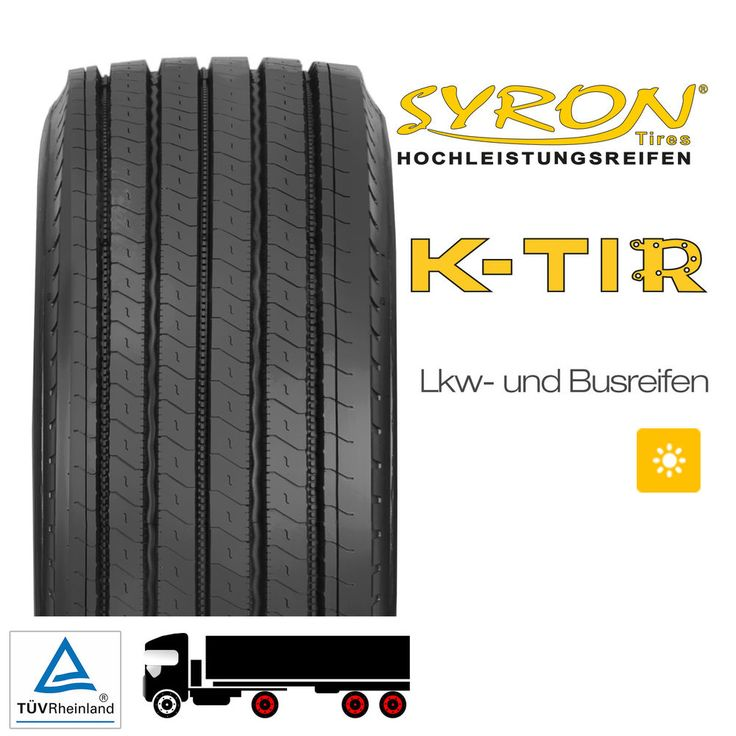 LKW REIFEN TRAILER SYRON K-TIR 385 / 55 R 22,5 160J - D, D, 3, 76 dB