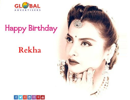 Wishing Many Many Happy Returns of the Day to iconic, evergreen and charming #Rekha ji.