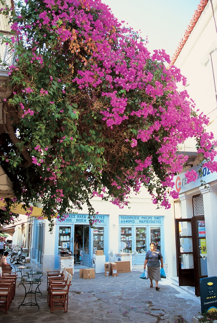 The back streets of Poros town when #sailing on the Saronic flotilla...
